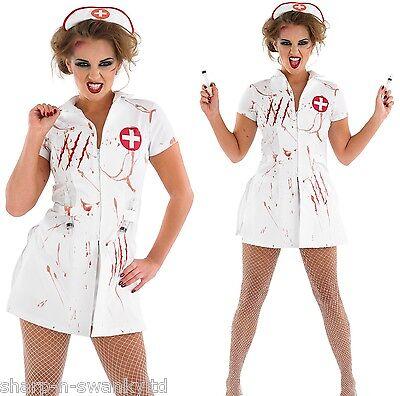 Damen Sexy Leuchtend Zombie Toter Krankenschwester Halloween Kostüm Kleid - Sexy Zombie Krankenschwester Kostüm