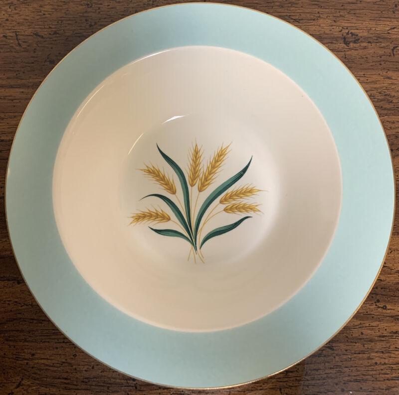 "International D.S. Co VIKING Wheat Aqua Round Vegetable Serving Bowl 9"""