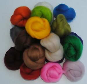 100g Merino Wool Top roving 20 Colours Felting Spinning