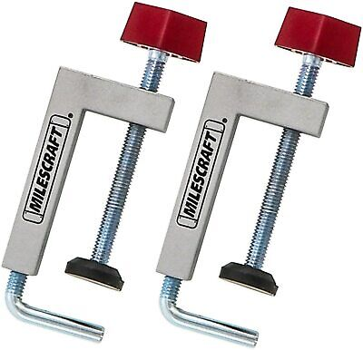 2pcs Fence Clamps Miter Saw Router Tables C-clamps Universal Clamping Tool