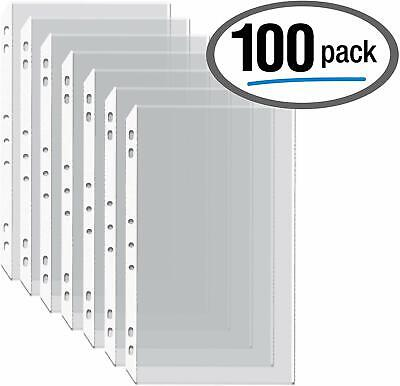 100box Legal Size Clear Heavyweight Poly Sheet Protectors By Gold Seal 8.5 X