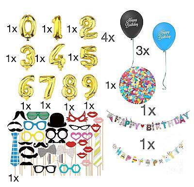 XXL Geburtstag Dekoration Deko Dekoration mit vielen Teilen Zahlen, Luftballons  ()