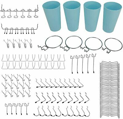 135pcs Pegboard Hooks Accessories Organizer Kit 13 Types Pegboard Hooks Included