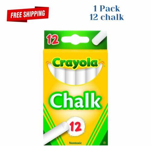 1 Pack of 12 chalk White Chalk 12 sticks in 1 box for writing on blackboards New