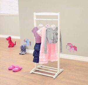 Kids Clothing Rack Children Clothes Hanger Kid's Room Organizer White Color New