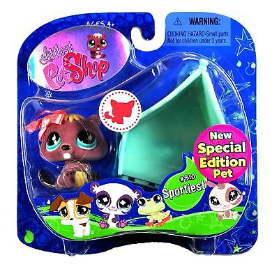 (BEAVER Sportiest NIB Fuzzy Purple LITTLEST PET SHOP Special Edition LPS #810 NEW)