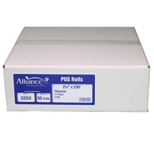 "Alliance Thermal Paper Receipt Rolls, 2 1/4"" x 230"