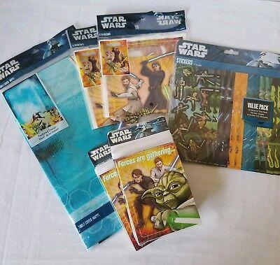 Star Wars Birthday Party Supplies Hallmark Yoda Invitations Table Cover Bags  ()