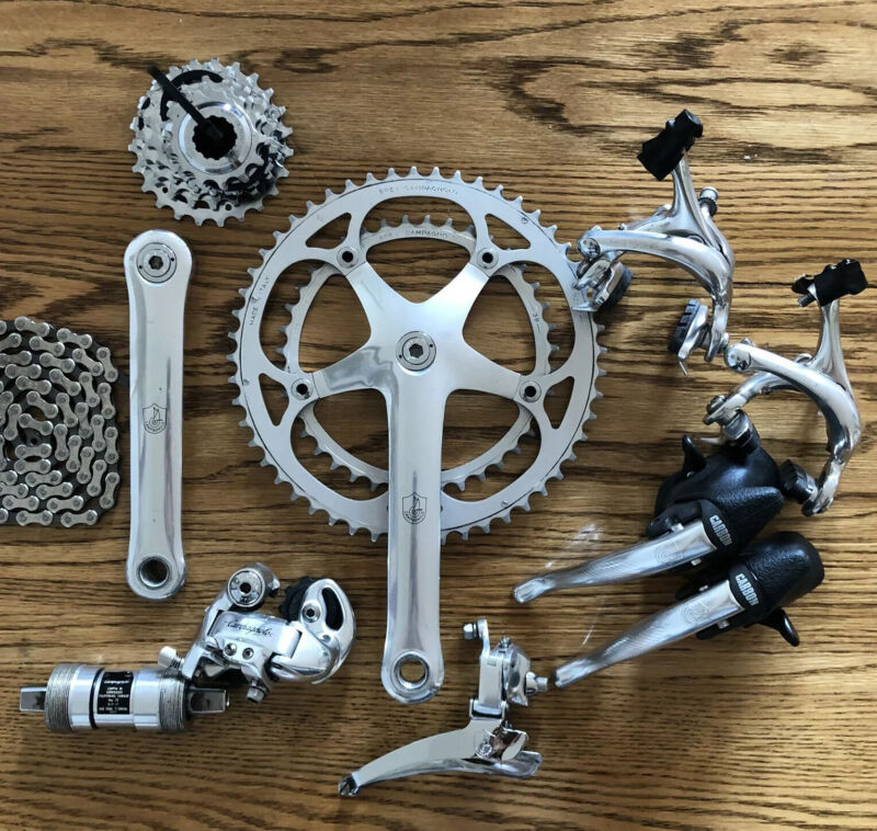 Campagnolo C Record Ergo Power 8 Speed Group - Vintage Italian Bike Group Set