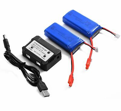 for Vivitar Aero View DRC-446 Drones TWO Batteries+Charger Set