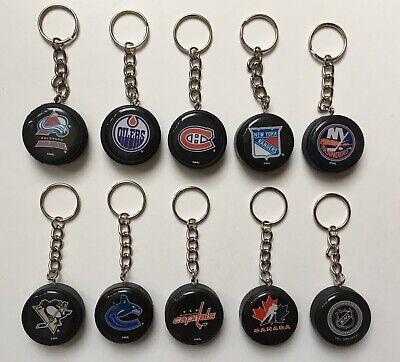 Mini NHL Hockey Puck Keychain - Choose Your Team Hockey Puck Keychain