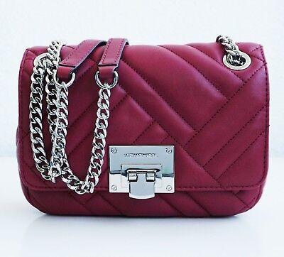 Leder Flap Shoulder Bag (Michael Kors tasche bag  vivianne sm shoulder flap quilted leder mulberry neu)