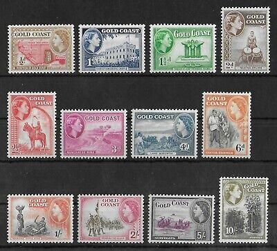 GOLD COAST 1952-1954 Mint LH Complete Set of 12 Stamps SG #153-164 CV £80 VF