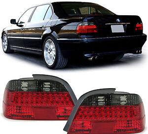 7er BMW E38 98-01  KLARGLAS LED RÜCKLEUCHTEN ROT SCHWARZ