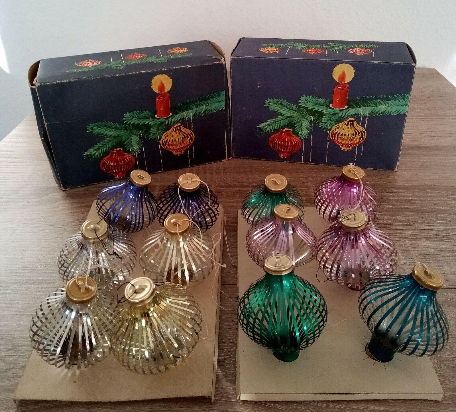 Weihnachtskugel, Christbaumkugeln VEB Thüringer Glasschmuck Lauscha DDR