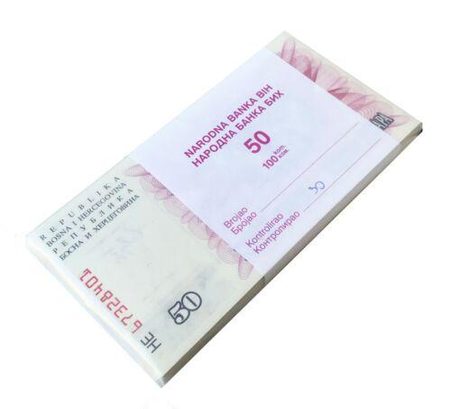 BOSNIA 50 DINARA 1992 P 12 UNC BUNDLE OF 100 NOTES (100 PCS)