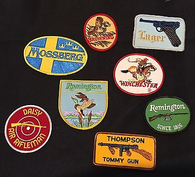 """~~FIREARMS~~   """"SET of 8 PATCHES""""  Sew/Iron on"""
