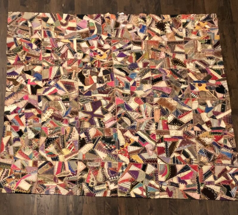 Gorgeous Antique Crazy Quilt, Early 20th Century