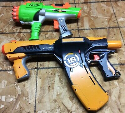 Nerf Dart Tag 1G Quick 16 Blaster & 10 Round Revolver Lot Tested & Works