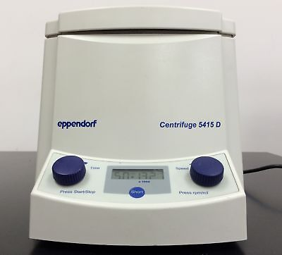 Eppendorf Microcentrifuge 5415d Centrifuge 24 Place Rotor Warranty