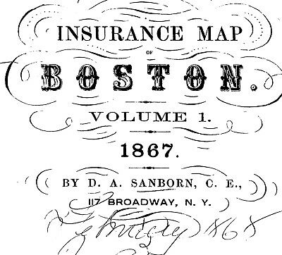 Boston, Massachusetts~ about 54 sanborn maps~ on  CD