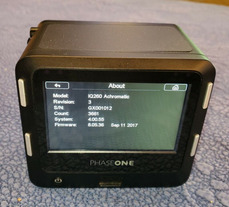Phase One IQ260 Achromatic Digital Back Phase One/Mamiya Mount 3661 actuations