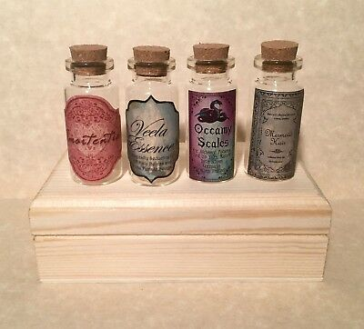 "Mermaid Harry Potter (4 Harry Potter 2""Potion Bottles Amortentia Occamy Scales Mermaids Hair)"