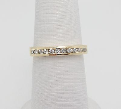 Zales 1/4CT Round Diamond Anniversary Wedding Band Ring 14K Yellow Gold