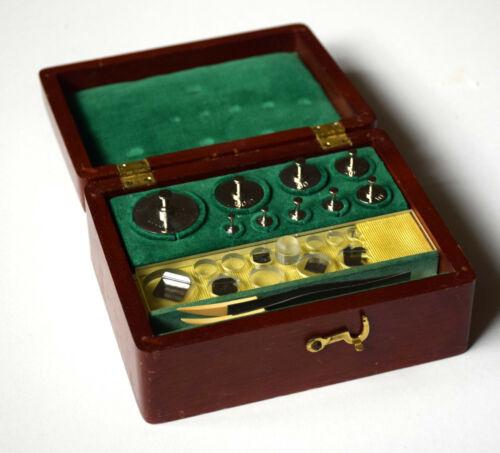 Vintage Seederer-Kohlbusch Seko NJ Apothecary Scale Stainless Steel Weight Set