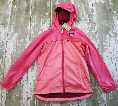 NWT PATAGONIA Girls Quartzside Hooded Jacket Coat Sticker Pink Girls size XL 14 for sale  Shipping to India