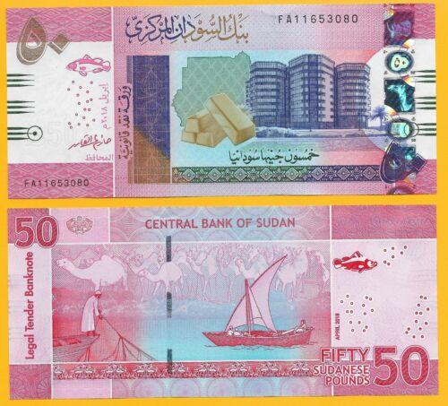 Sudan 50 Pounds p-new 2018 UNC Banknote