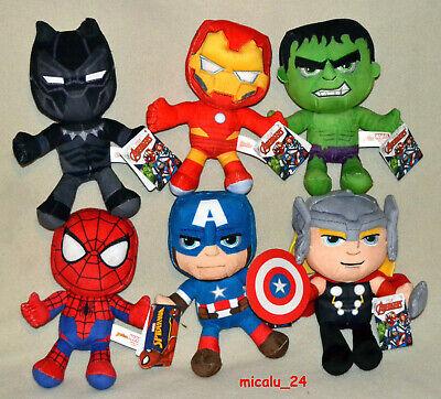 Marvel Avengers Plüsch Iron Man Capt. America Spider Man Thor Hulk 19 / 24cm NEU