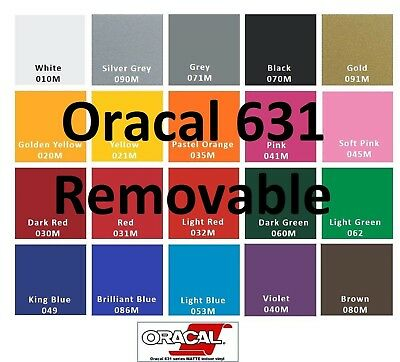 Oracal 631 4 Rolls 12x 5 Feet Adhesive Removable Vinyl Craft Makercutter
