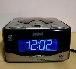 RCA CD Player Alarm Clock AM/FM Radio Dual-Wake Battery Backup RP4801A - U.S