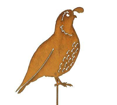 California Quail Garden Stake | Metal Quail Bird Art | Quail Yard Decor | Gift