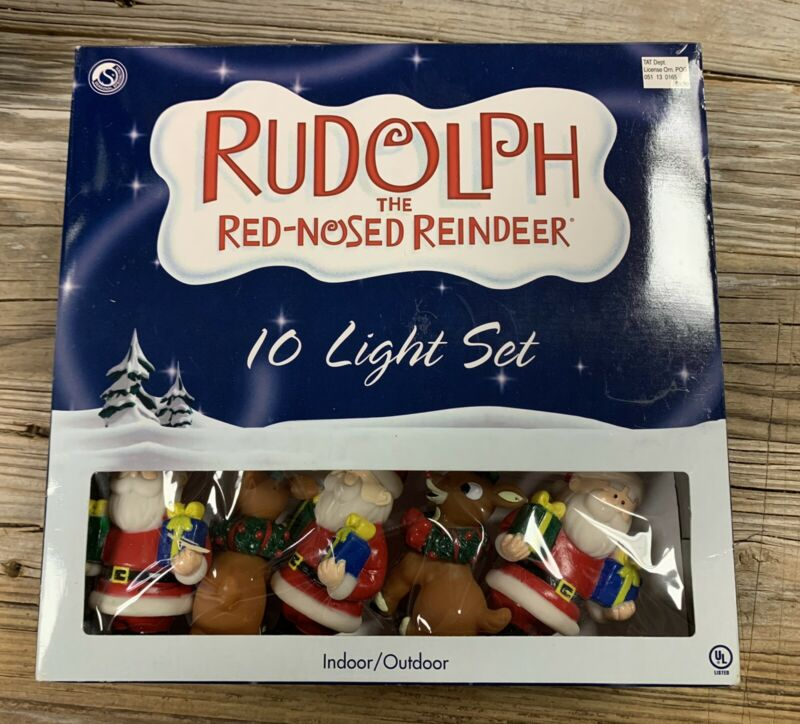 Rudolph the Red Nosed Reindeer 10 light set NEW IN BOX - 7 Box Lot