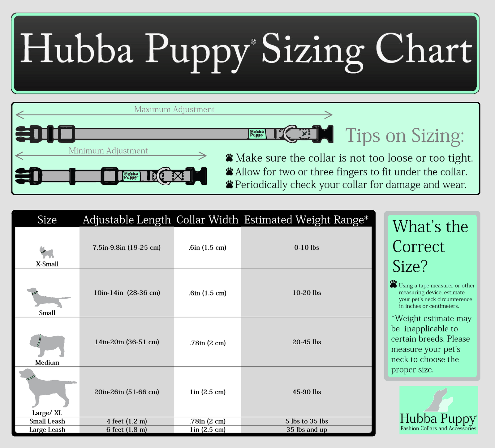 Hubba Puppy Pet Collars