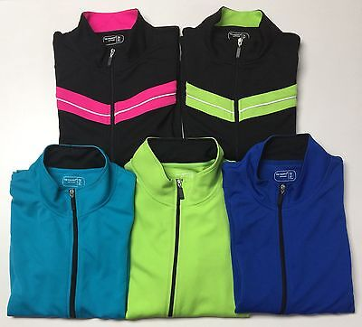 Be Inspired Plus Size Ladies Full Zipper Front Long Sleeves Active Wear Top Nwt