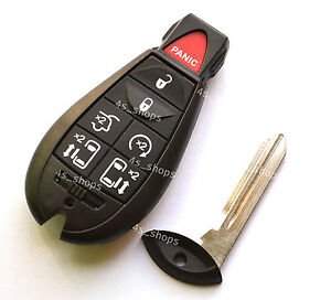 Spare-Smart-Key-Shell-Case-For-Chrysler-Town-Country-Dodge-Grand-Caravan-7Button