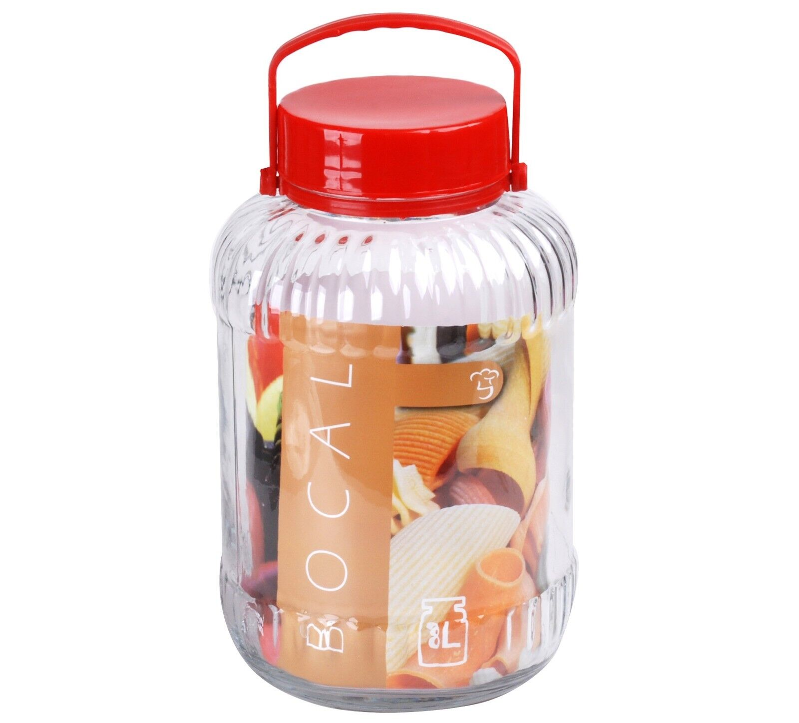 Large Glass Preserve Food Beverage Juice Airtight Container Jar Handle 5 8 10 L