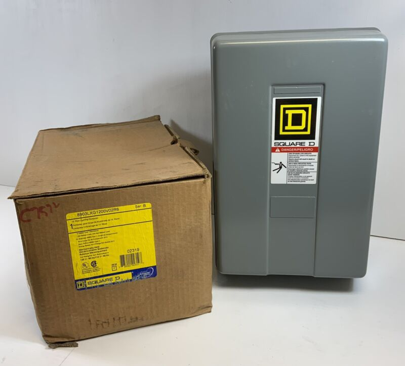 SQUARE D 12 POLE LIGHTING CONTACTOR  120V Coil 8903LXG1200 NEW