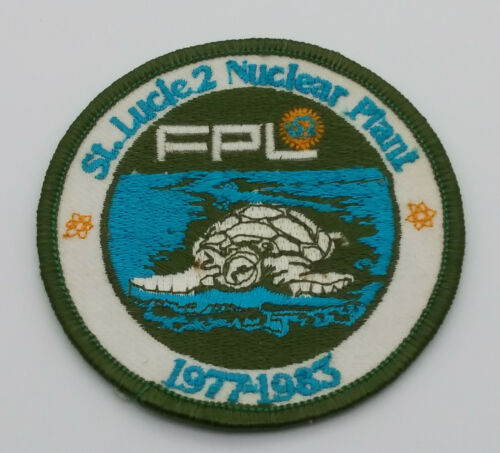 FPL St Lucie 2 Nuclear Plant 1977-1983 Patch