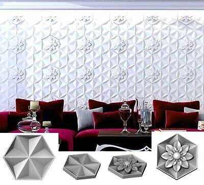 Set Of Polyurethane Molds Forms Alvarium Decorative Concrete Cement Design Wall