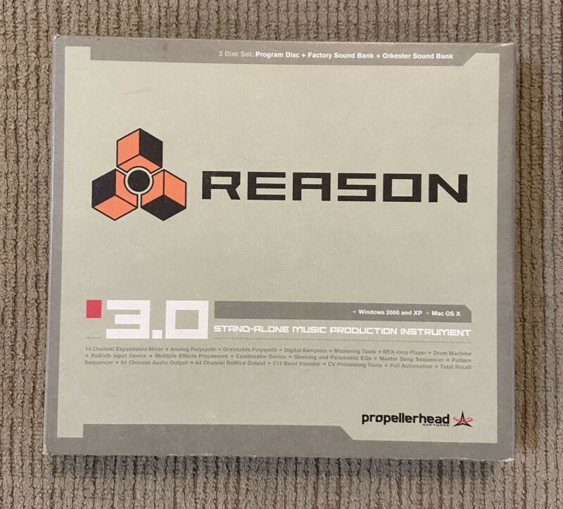 Reason 3.0 Standalone Music Production Propellerhead