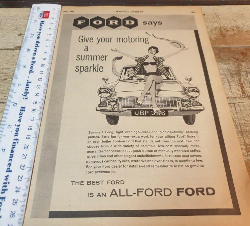 1961 FORD ANGLIA 105E  Original Sales Advert UK