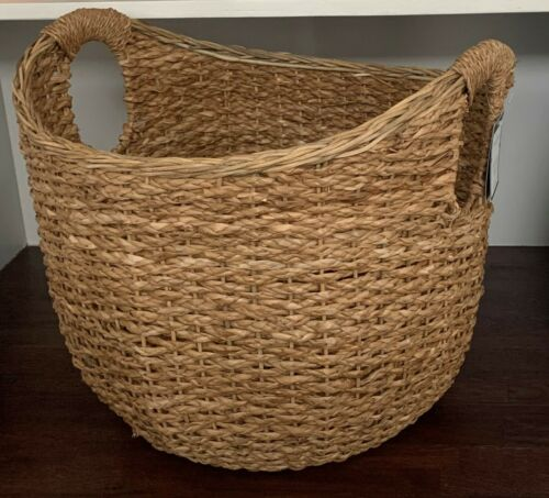 "Threshold 16""x18"" Aseana Large Round Market round woven seagrass Basket Natural"