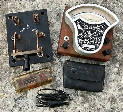 Antique 1907 Whitney Electrical Instrument Co Voltmeter Lot