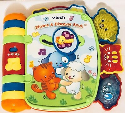 VTech Rhyme and Discover Educational Music Book Unisex Light Up Toddler Toy for sale  San Antonio