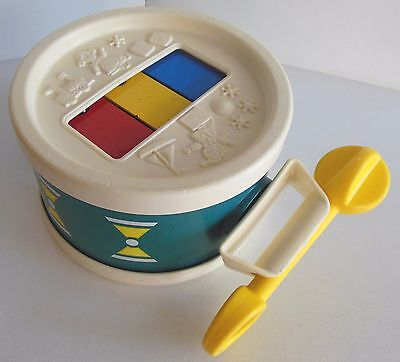 Vintage Toy Nursery Decor Fisher Price Xylophone Drum Toddler Musical