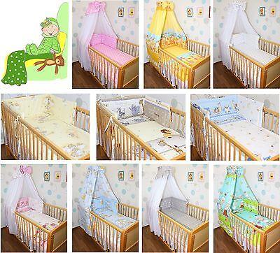 Baby Bettset 5-20T  mit Bettwäsche Nestchen, Chiffon oder Vollstoff Himmel Mädchen Bett Voll